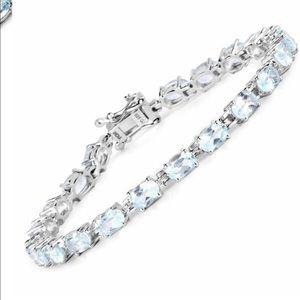 Jewelry - 💎 Blue Topaz and Sterling Silver Bracelet 💎